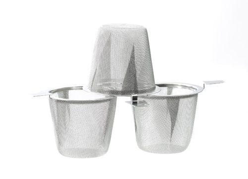 Edelstahlfilter mit zwei Henkeln