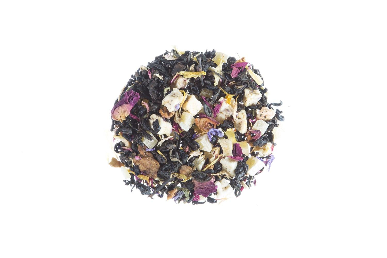Schwarzer Tee Früchtekorb