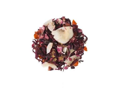 Bio Früchtetee Hallesche Momente Fruchtmischung aus Erdbeere Himbeere Orange und Kokos lieblich wie eine Sommerfrucht 10057