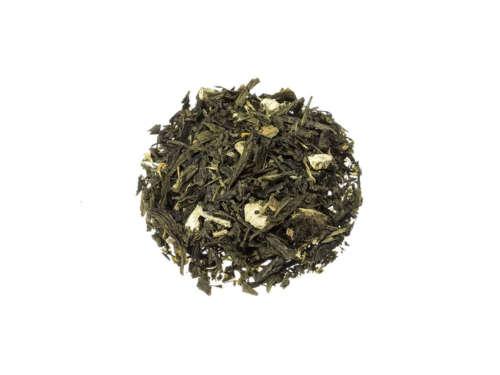 Bio Grüner Tee Blutorange Textur eines chinesischen grünen Sencha mit den Aromen der Blutorange lose 764S100