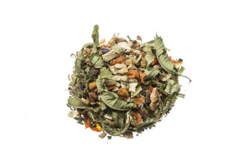 Bio Kräutertee Alpenpanorama Geschmack der Minze und einer leichten Orangennote lose 82324