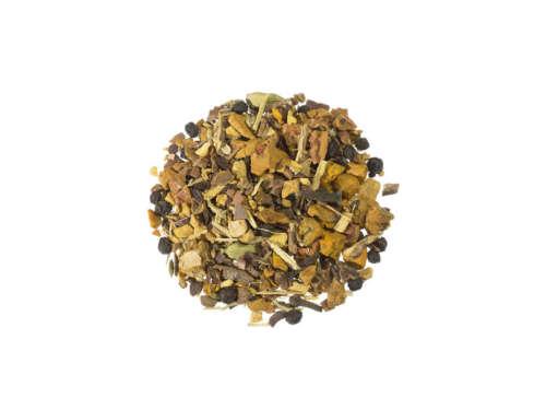 Bio Kräutertee Yogi Kurkuma Chai aromatischer Kräuter und Gewürze mit belebender Wirkung lose 21959
