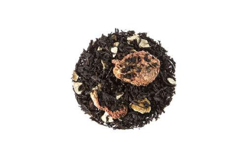 Bio Schwarzer Tee Händelkomposition außergewöhnliche aromatisierte Schwarzteemischung mit einer lieblichen Erdbeernote lose 10084