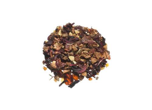 Früchtetee Winterabend winterlichen Aroma durch Mandelblätter Zimt und Vanillestücke lose 11025-1