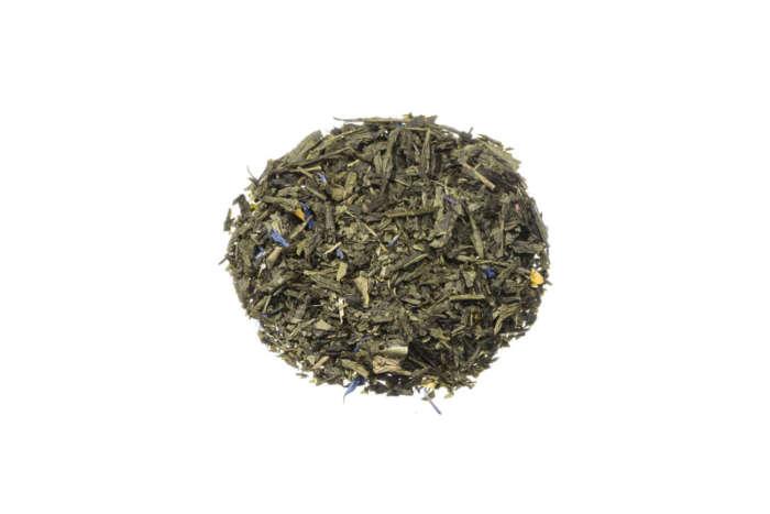 Grüner Tee Morgenzauber mit Mango und kräftigem Bergamotte-Geschmack lose 8250S100