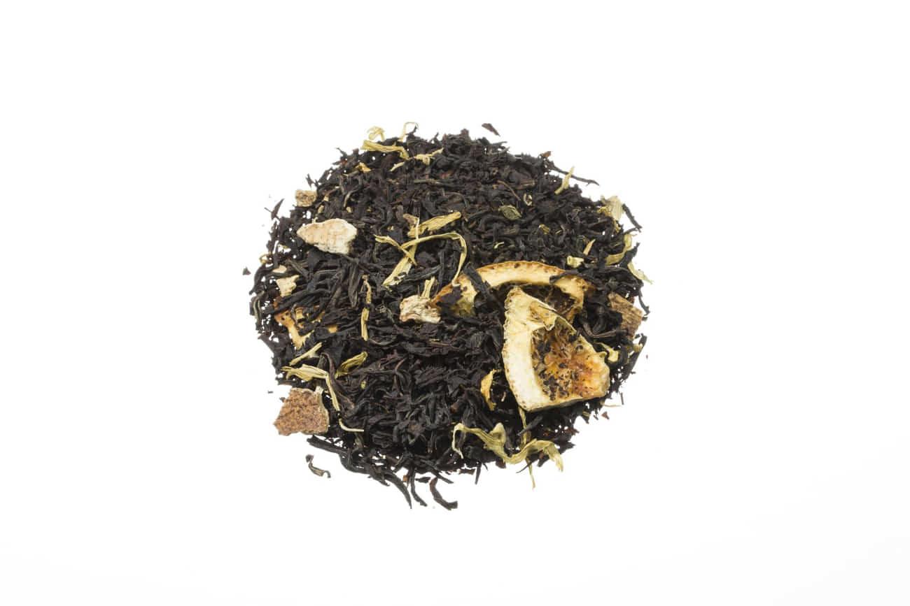 Schwarzer Tee Costa Rica Mix exotischen Aromen von Mandarine Orange und Kiwischeiben lose 84298S