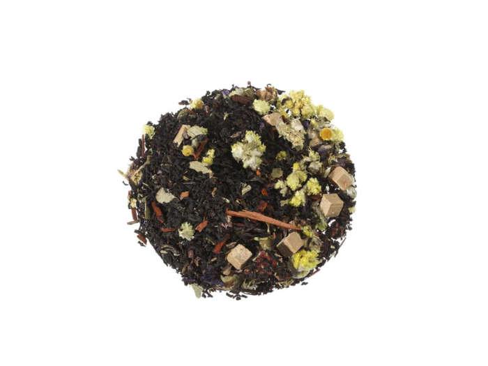 Schwarzer Tee Karamell-Erdbeere kräftige Schwarzteemischung mit Karamell und Erdbeerstücken lose 091S100