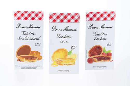 Tartelettes-mürbe Törtchen-gefüllt mit der berühmten Bonne Maman Fruchtkonfitüre oder mit Karamell und Schokolade-7005-7009-7006