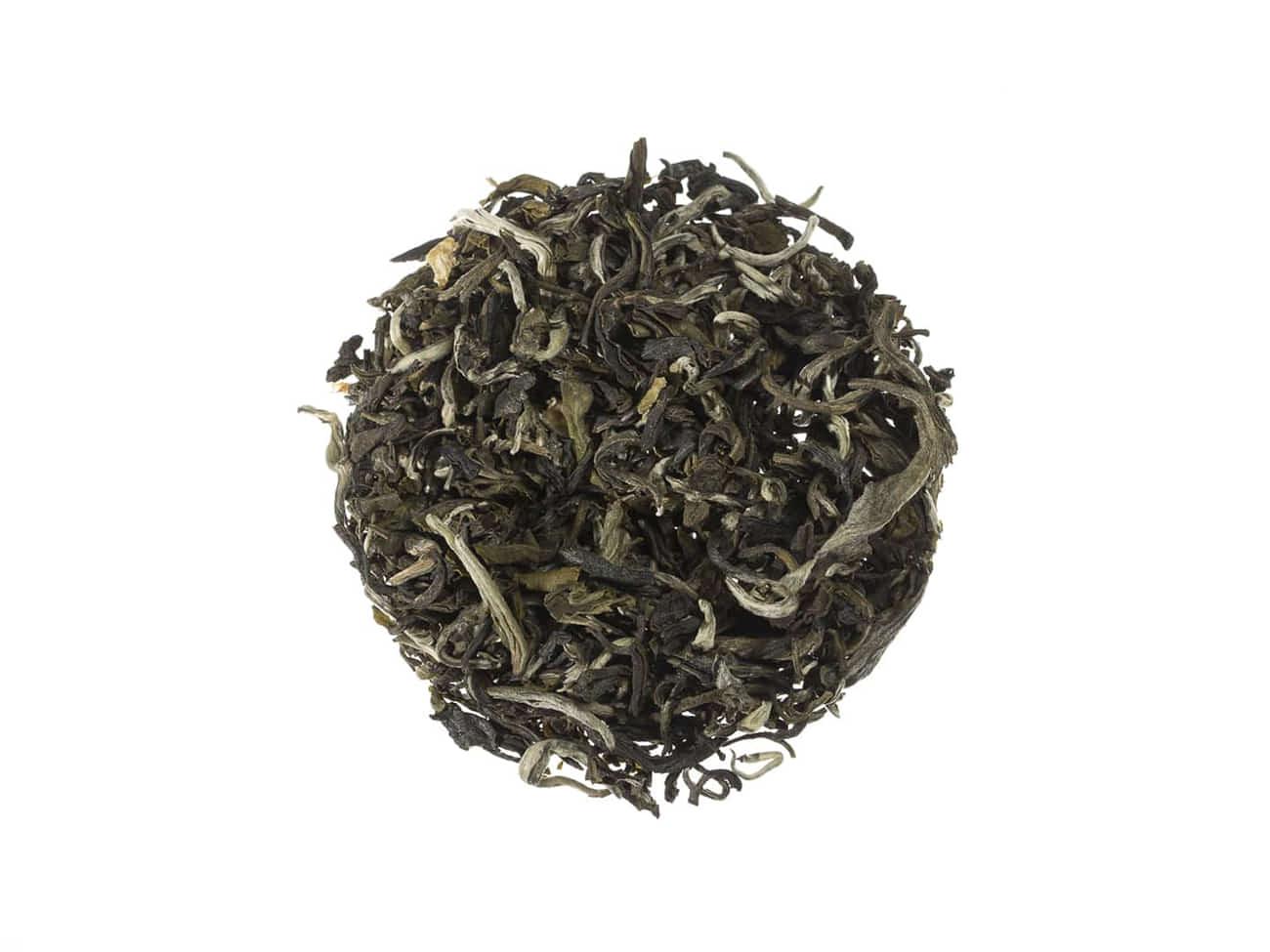 Weißer Tee China Jasmin White Monkey mit weißen Spitzen und Jasminblüten verfeinert lose 10029S100